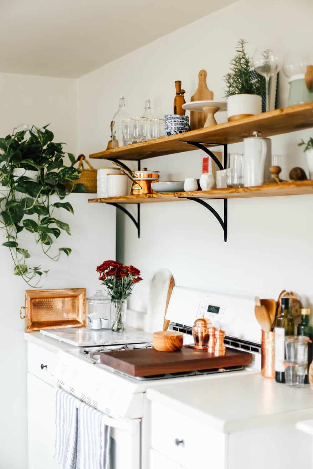 open kitchen shelves for under 100  college housewife