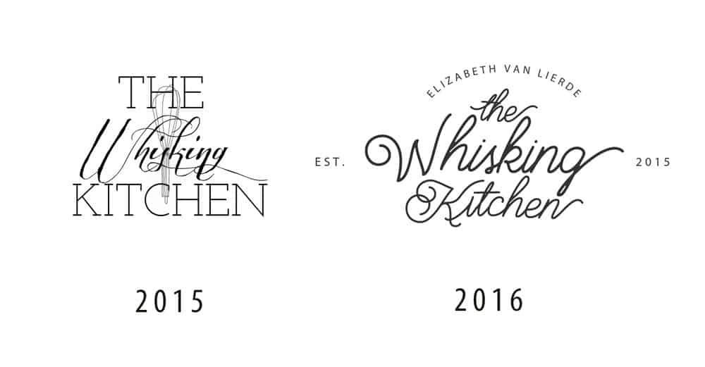 These were the first two logos of the blog