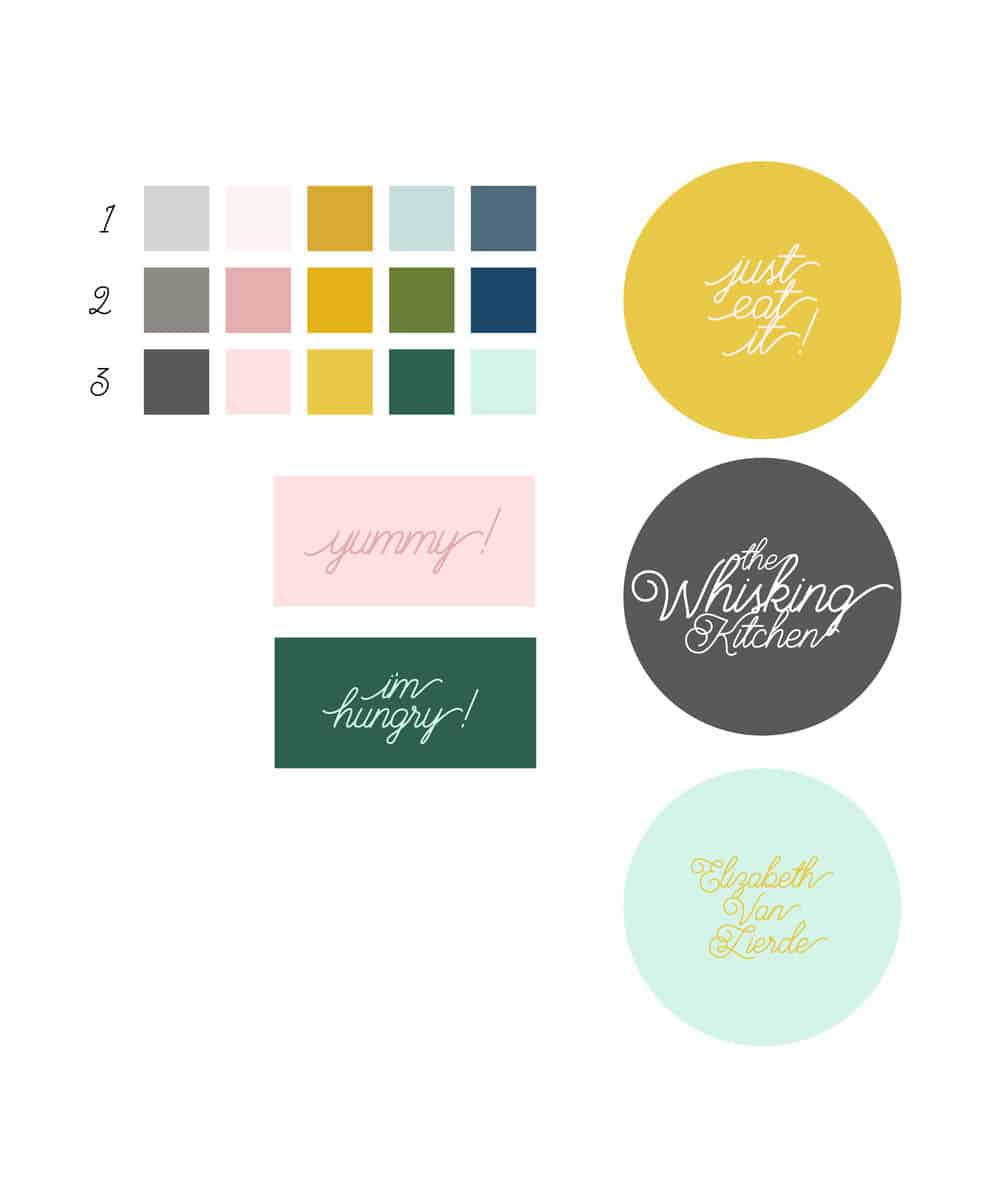THESE WERE SOME OF THE PRELIMINARY BRANDING ELEMENTS THAT WERE BROUGHT TO THE DRAWING BOARD