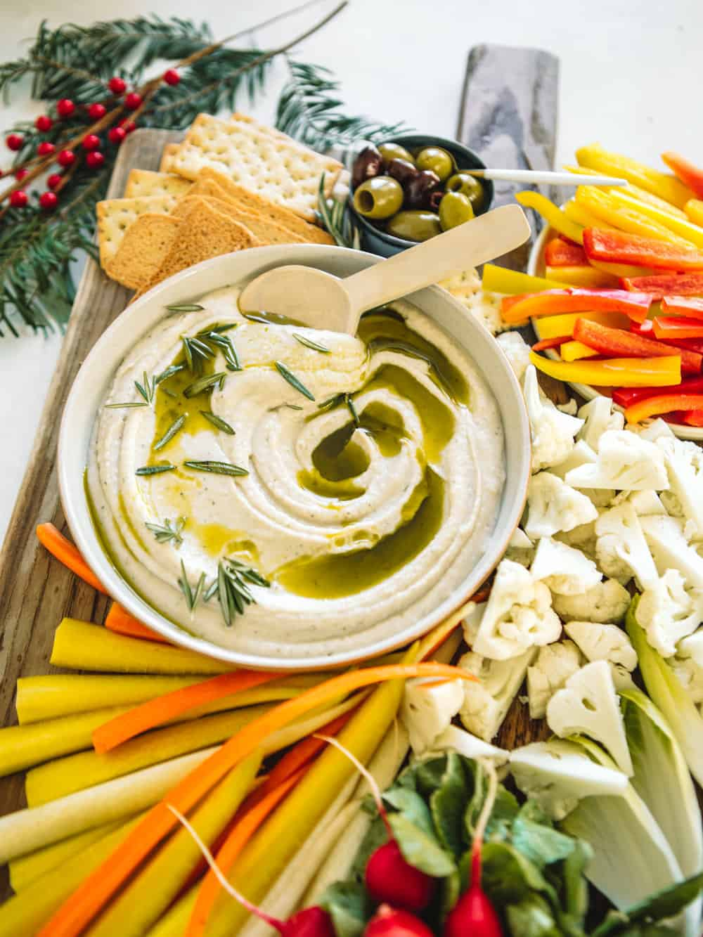 How To Make A Holiday Crudite Platter With Healthy Dips College Housewife
