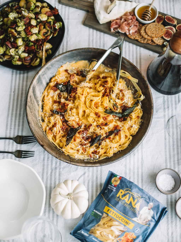 Fall Pasta Dinner: Fall Harvest Gorgonzola And Apple Salad