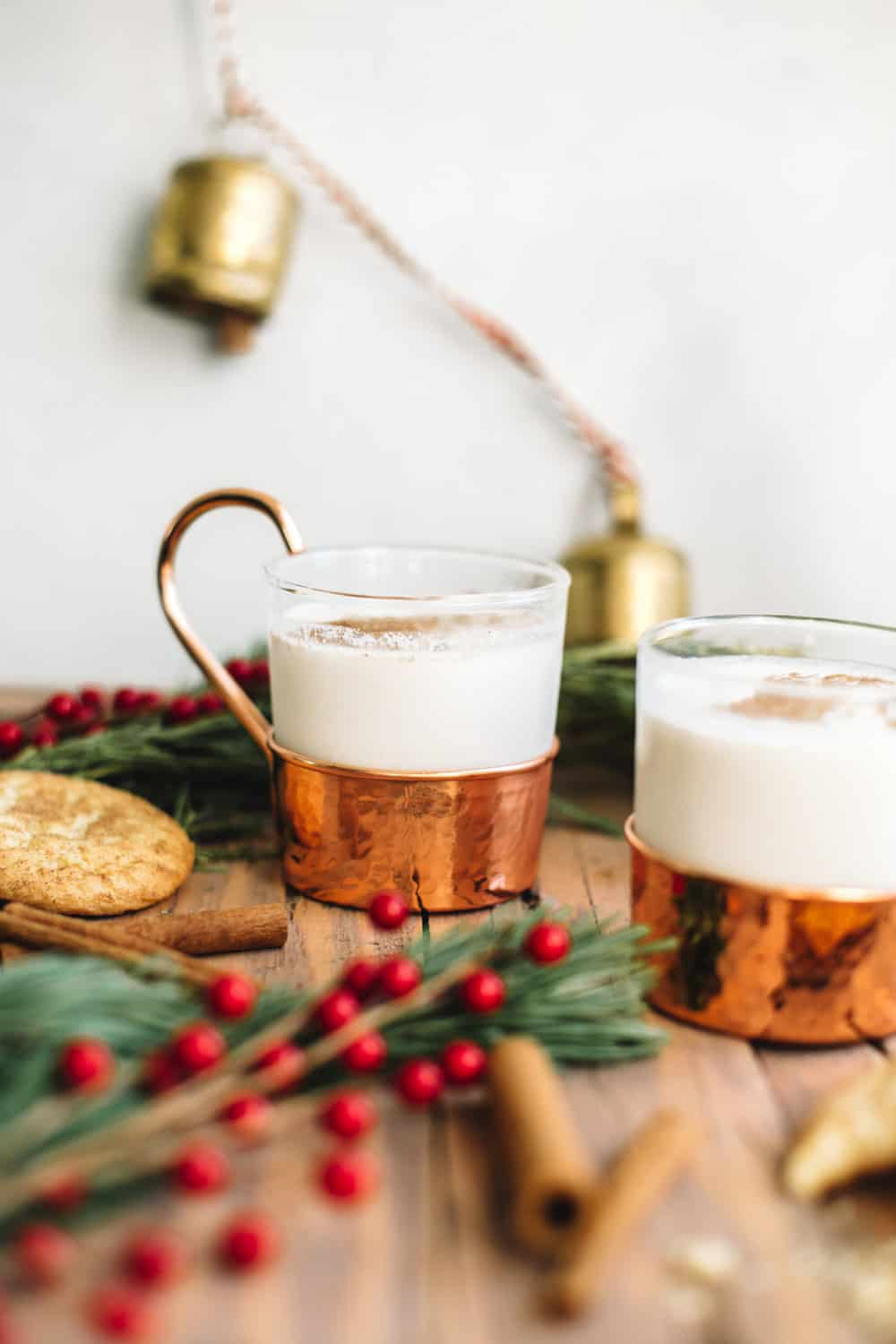 Santa Claus Nightcap: A Cookie Milk Whiskey Cocktail 8 Snickerdoodle Cookies 4 Cups of milk (I used 2%) 2 Ounces of whiskey or bourbon 1/4 Teaspoon of cinnamon Pinch of nutmeg In a large bowl lightly crush the snickerdoodle cookies. Pour in the milk and stir together. Cover milk and cookie mixture and refrigerate for 2-4 hours to infuse the flavor. Remove the milk and straight out the soaked cookies. For one cocktail: Fill a shaker with 8 ounces of cookie infused milk, 2 ounces of whiskey, cinnamon and nutmeg. Fill with ice and shake for 20-30 seconds. Pour into a mug and sprinkle with cinnamon.