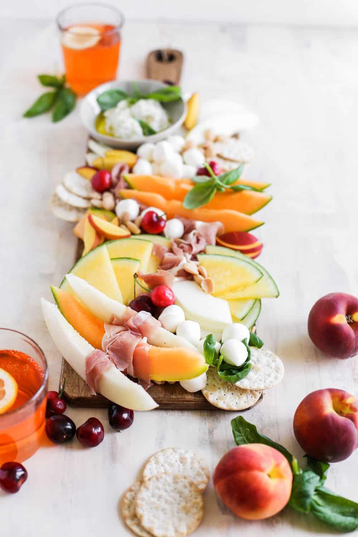 Italian Melon and Mozzarella Cheese Board