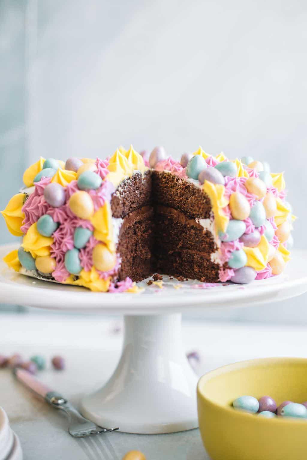 Chocolate Mini Cadbury Egg Cake