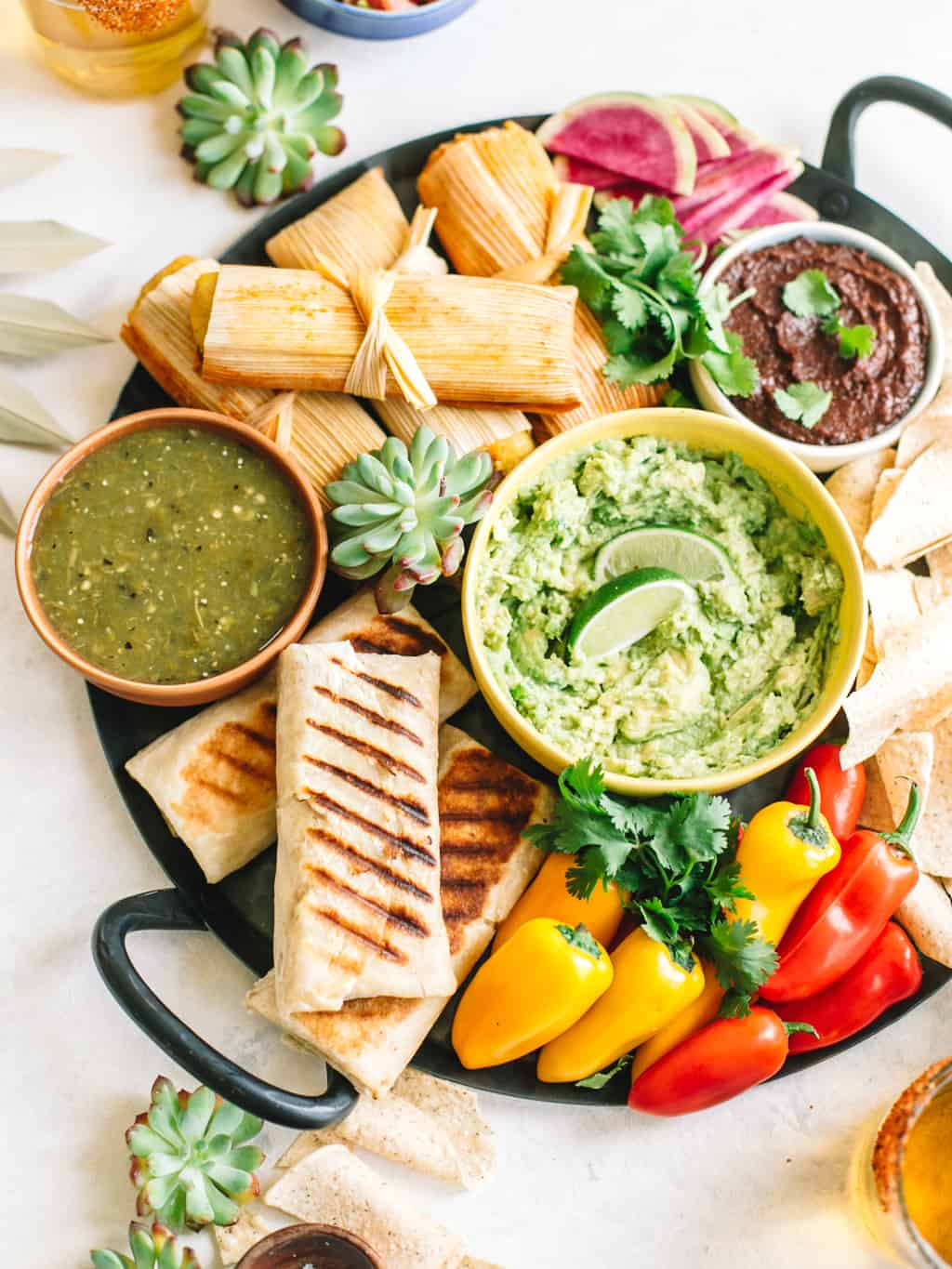 Mexican Appetizer Snack Platter