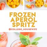 Frozen aperol spritz pinterest graphic