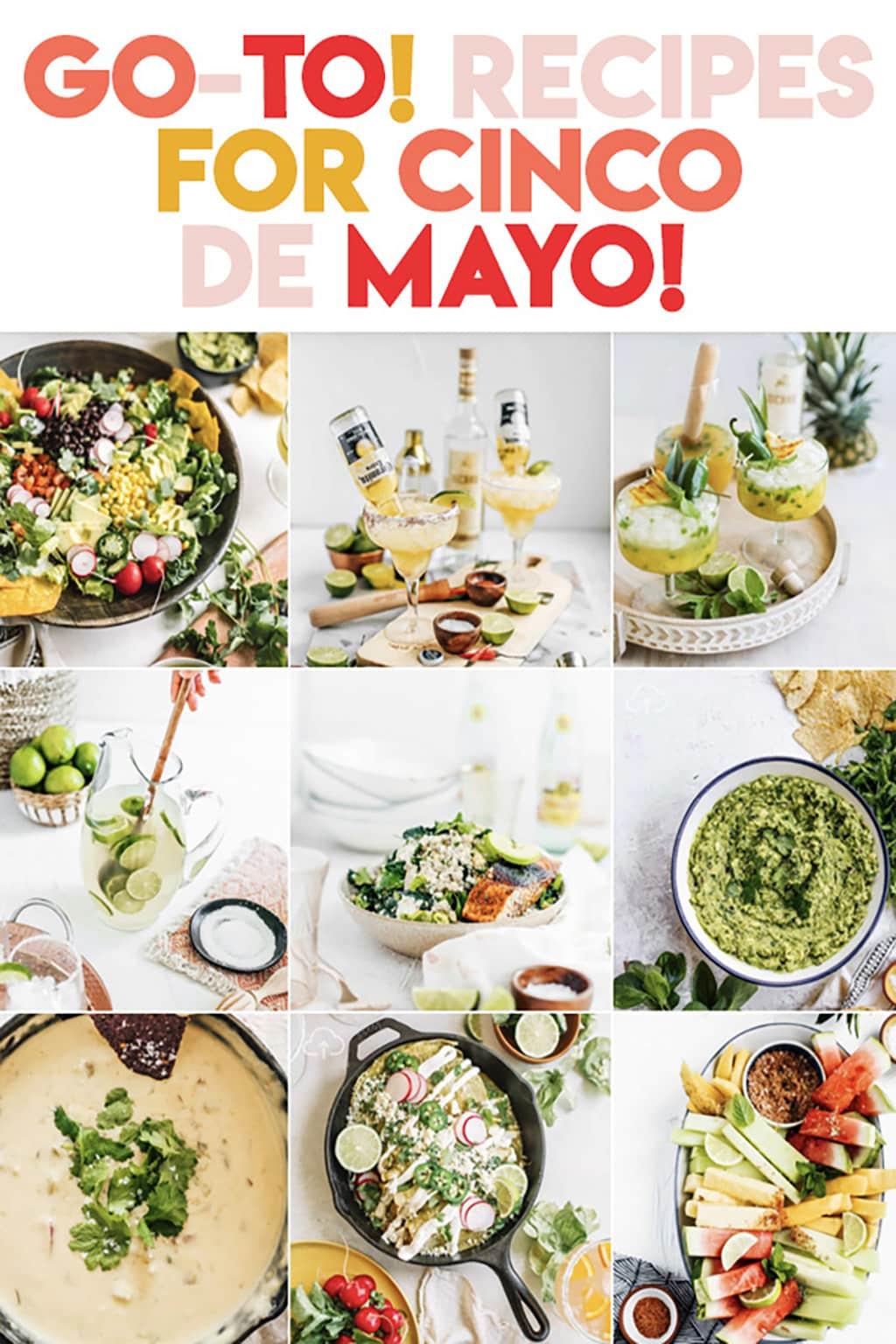 Recipe round up compilation of Top 10 Recipes for Cinco De Mayo.