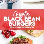 chipotle black bean burger pinterest graphic