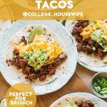 chorizo breakfast tacos pinterest graphic