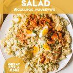 deviled egg potato salad pinterest graphic