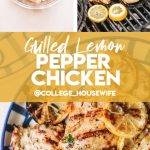 chicken in marinade, chicken breasts on grill, lemon chicken with grill marks