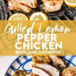 chicken and lemons on grilled, lemon chicken with grill marks