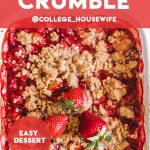 strawberry crumble pinterest graphic