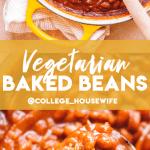 vegetarian baked beans pinterest graphic