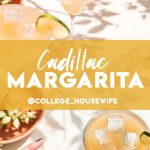 two cadillac margaritas on the rocks and garnished with lime