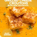 creamy pumpkin soup recipe with grilled cheese croutons